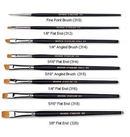 Mehron Stageline Brush Fine Point