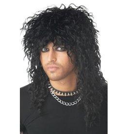 California Costume Headbanger Wig Black