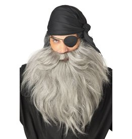 California Costume Pirate Beard Grey