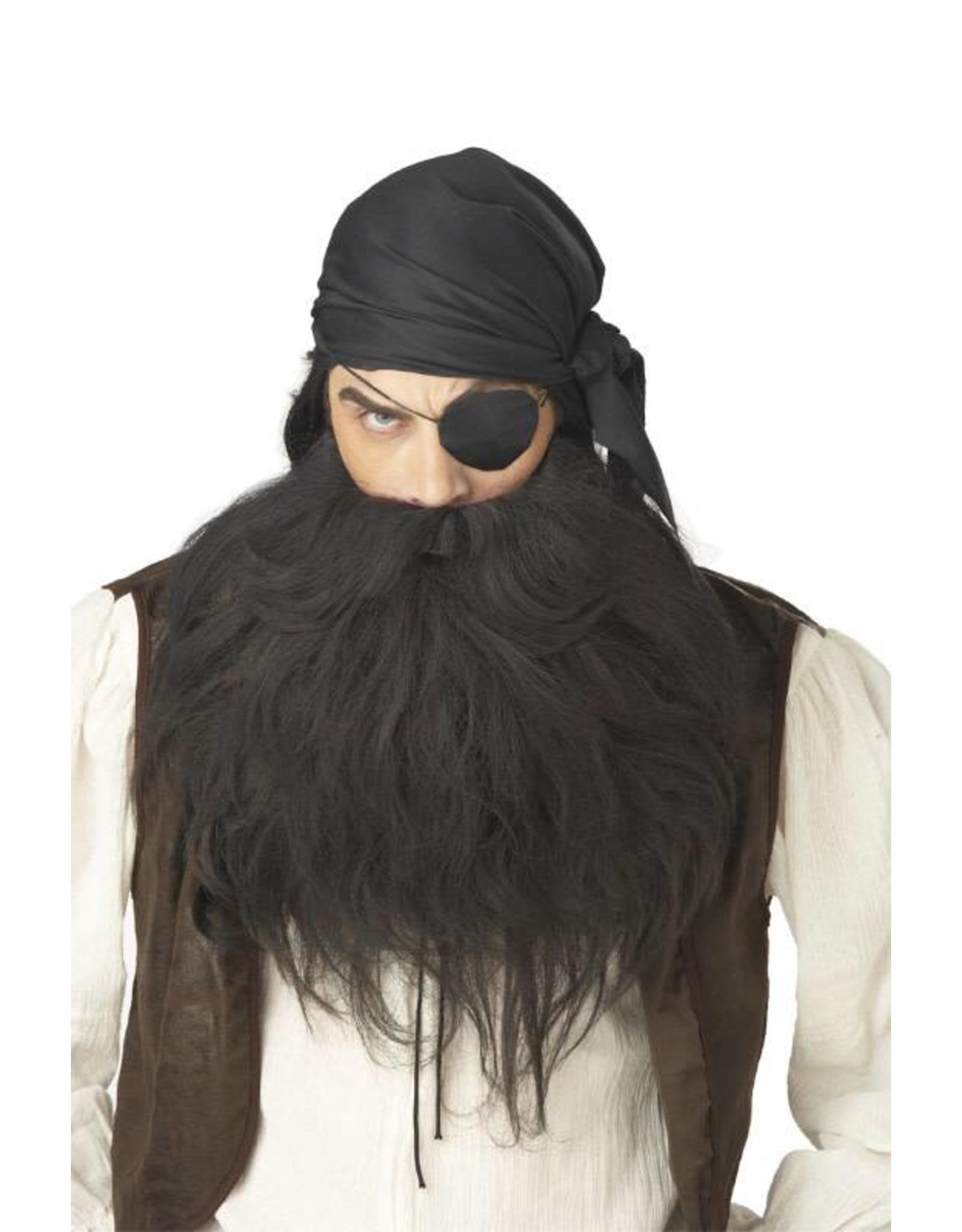 California Costume Pirate Beard Black