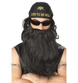 California Costume Biker Beard & Moustache