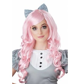 California Costume Cosplay Doll Wig Pink