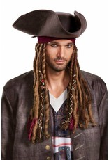 Disguise Jack Hat/Braids Adult