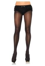 Leg Avenue Opaque Sheer Tights Black