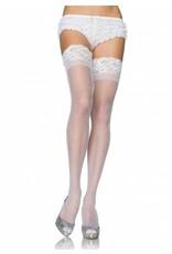 Leg Avenue Sheer Thigh High White