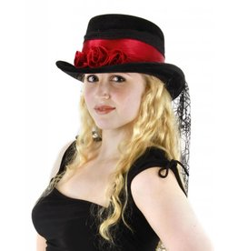 Elope Gothic Rose Top Hat