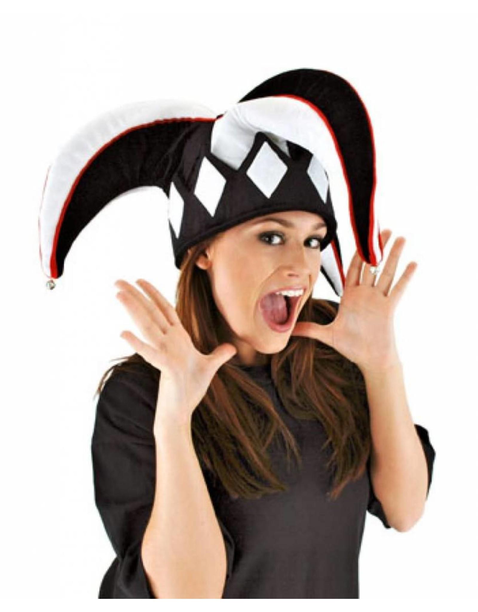 Elope Jester Hat Black/White