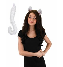 Elope Cat Ears & Tail White