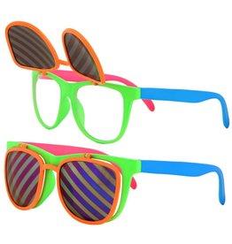 Elope Flip-Ups Neon Glasses