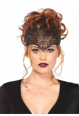 Leg Avenue Die Cut Royal Crown Black