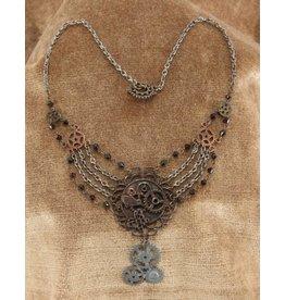 Elope Steampunk Gear Necklace