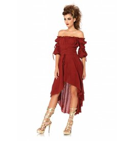 Leg Avenue Gauze Peasant Dress Rust