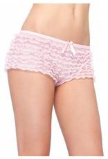 Leg Avenue Ruffle Panty Pink