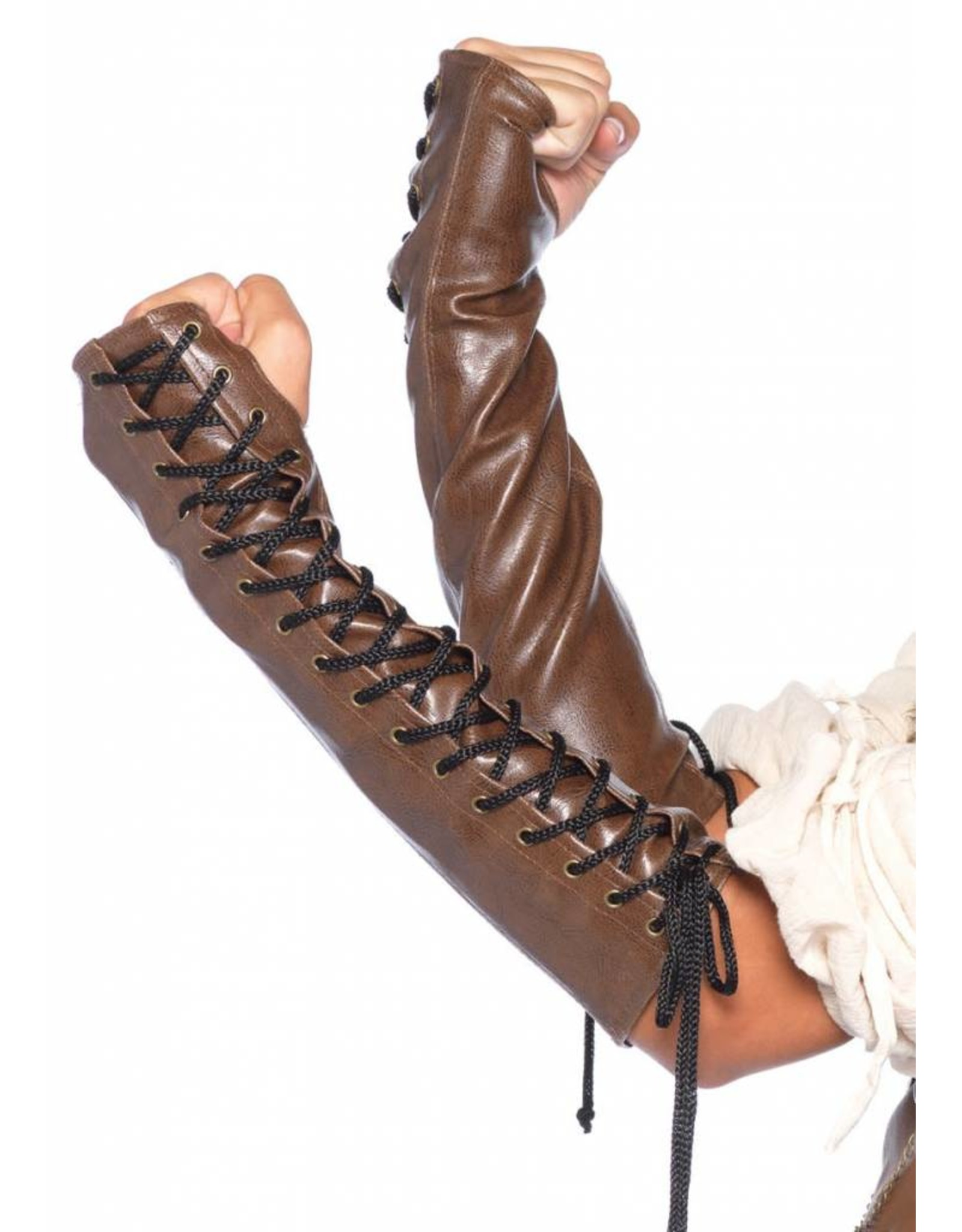 Leg Avenue Leather Arm Warmers M/L