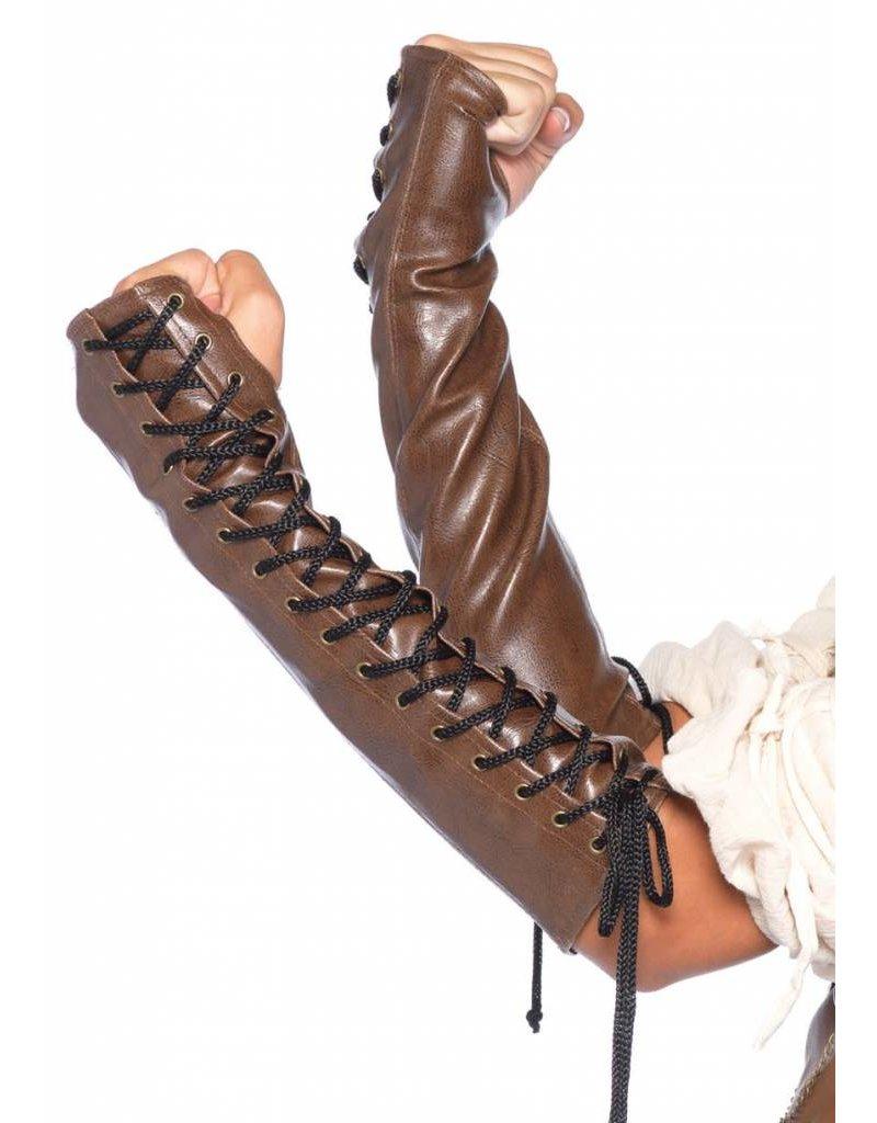 Leg Avenue Leather Arm Warmers M/L