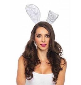 Leg Avenue Lace Bunny Ears White