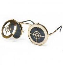 Flashback and Freedom Steampunk Bullseye Glasses