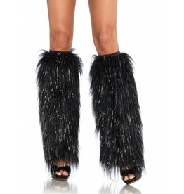 Leg Avenue Furry Leg Warmers Blk