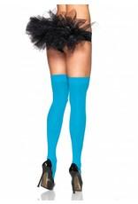 Leg Avenue Opaque Stockings Neon Blue