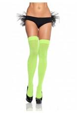 Leg Avenue Opaque Stockings Neon Green
