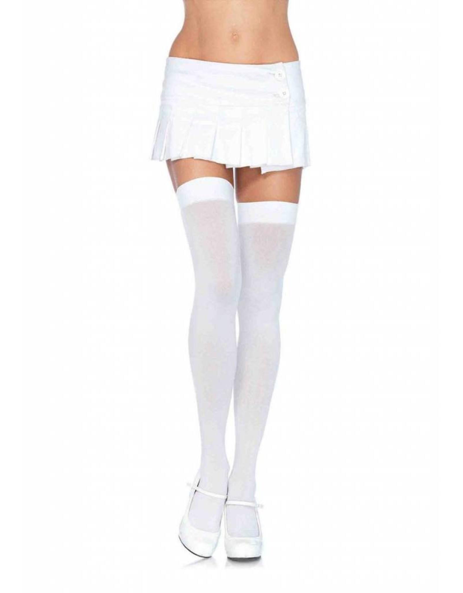 Leg Avenue Opaque Stockings White
