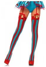 Leg Avenue Red/Blue Stripe Thigh Highs