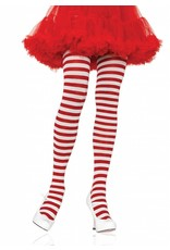 Leg Avenue Striped Tights Wht/Red