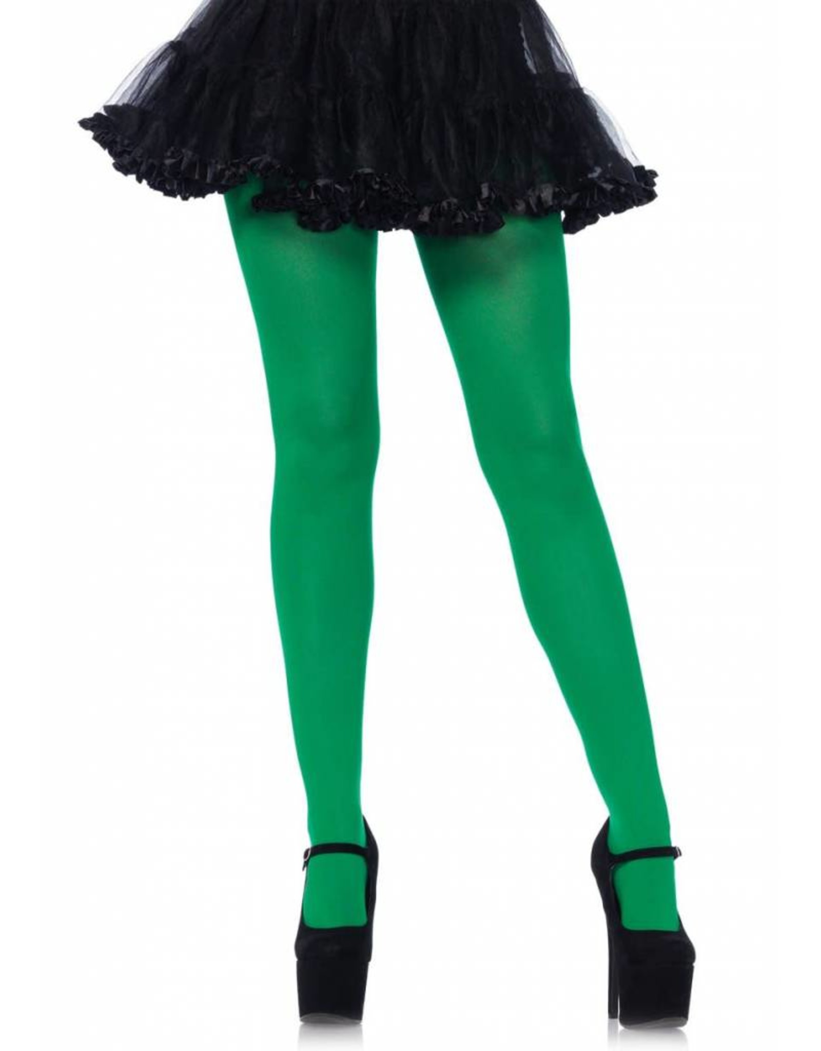 Leg Avenue Nylon Tights Kelly Green