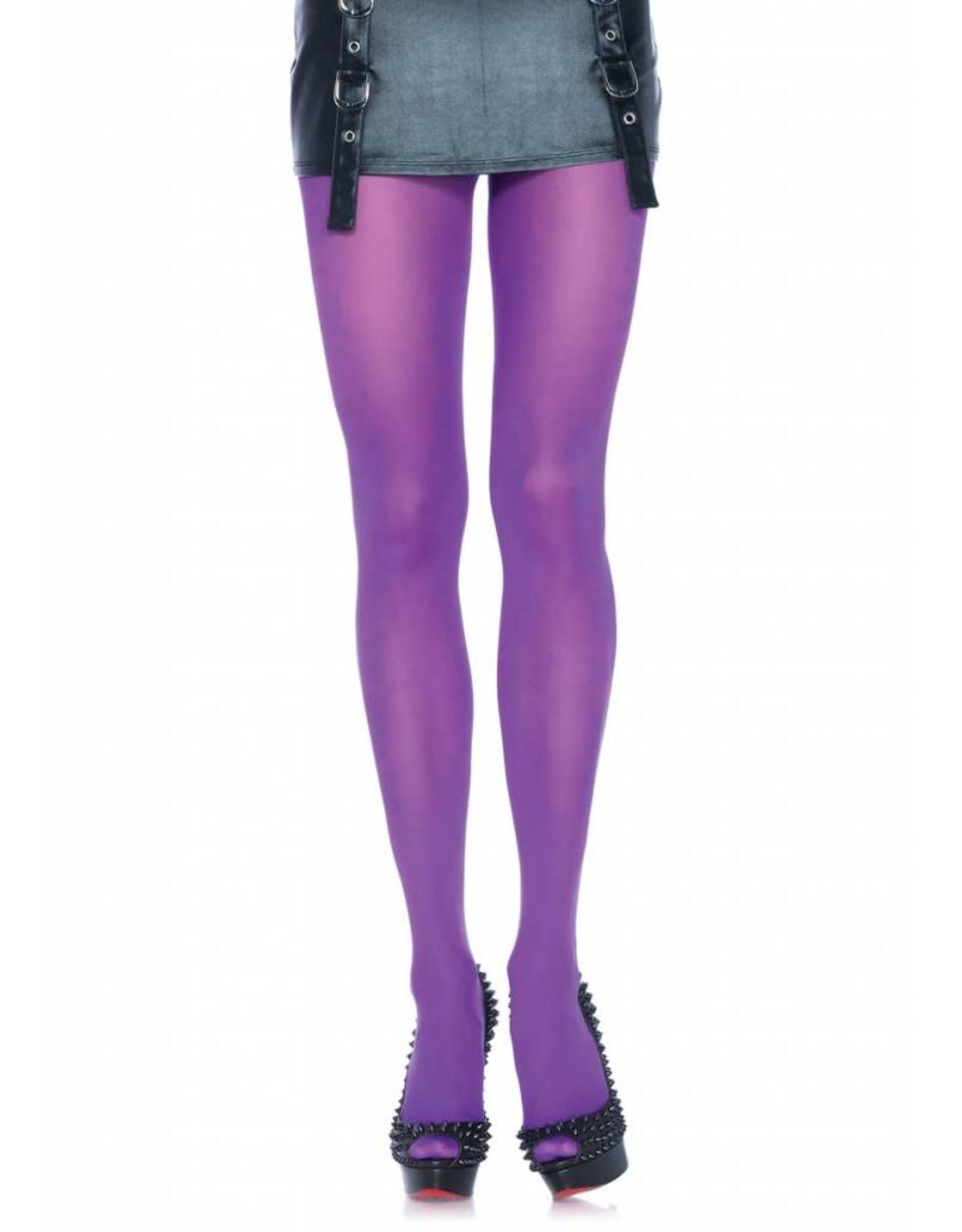 Leg Avenue Nylon Tights Purple