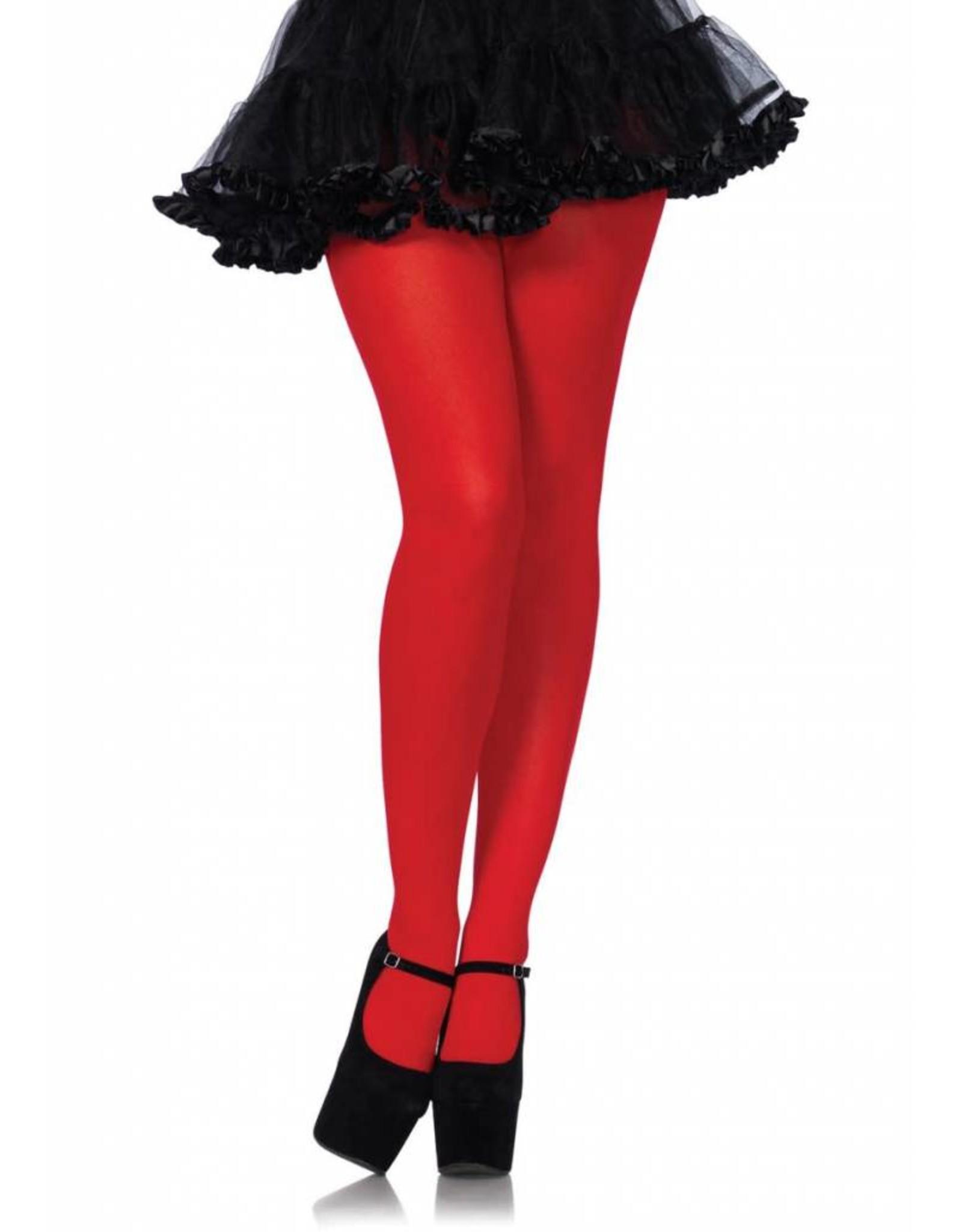Leg Avenue Nylon Tights Red