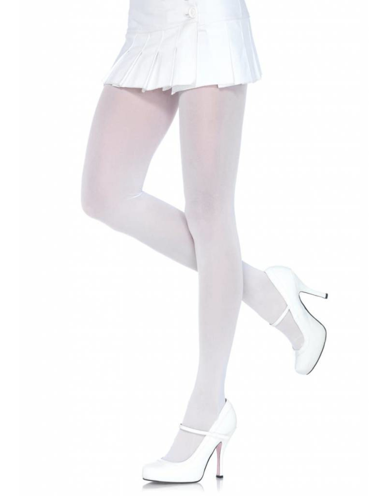 Leg Avenue Nylon Tights White