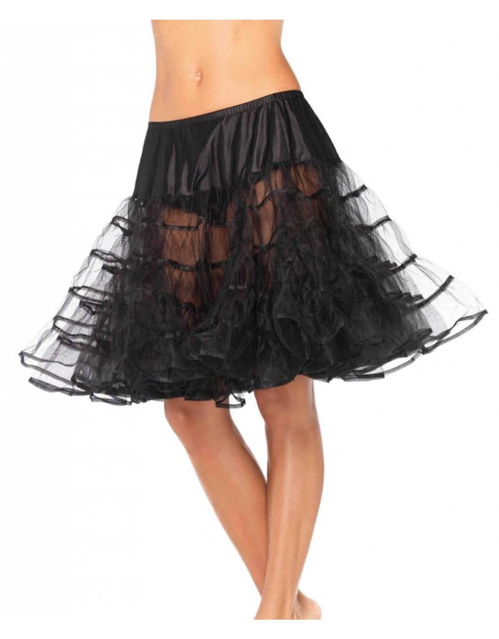 Leg Avenue Knee Length Petticoat Black