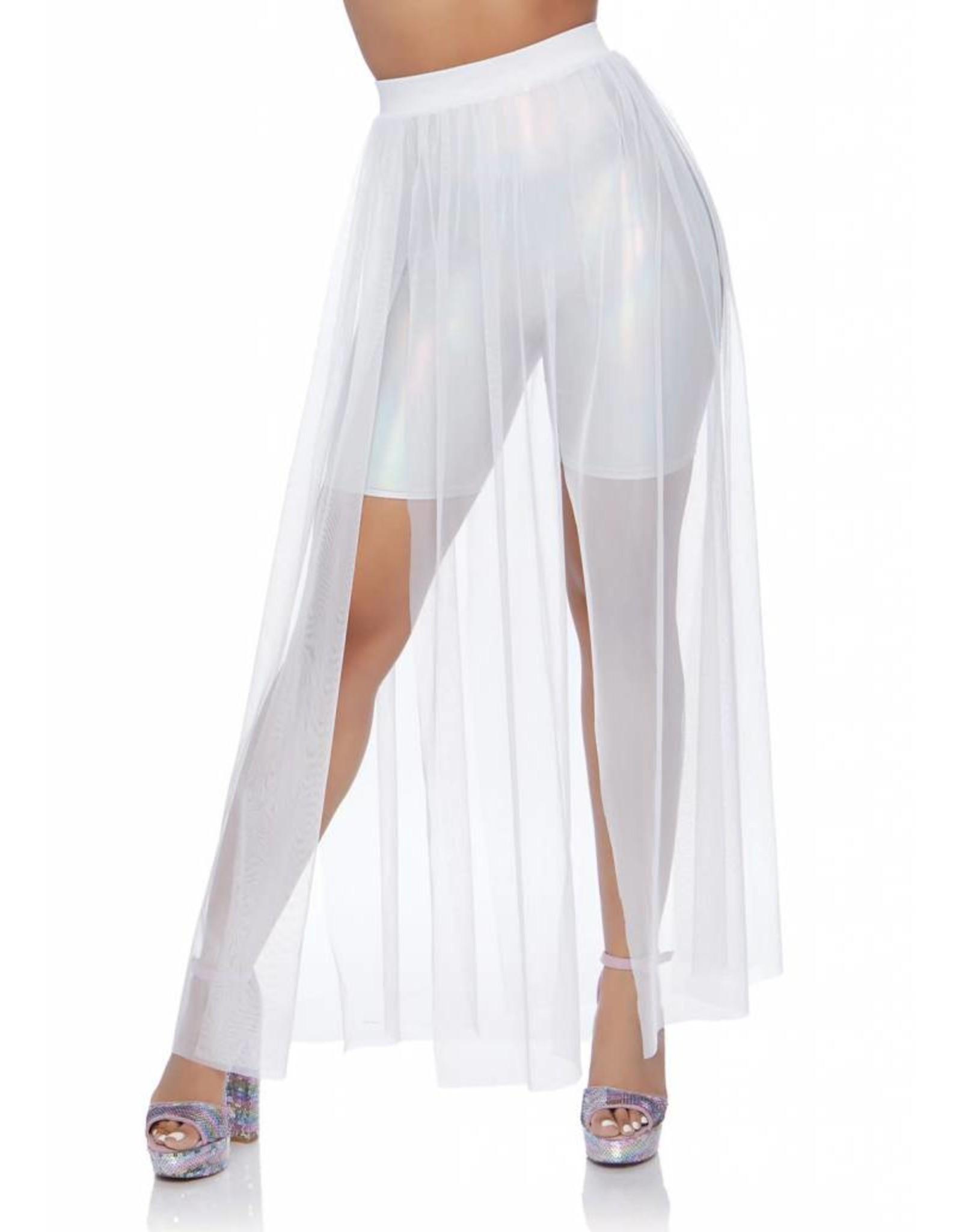 Leg Avenue Sheer Skirt White