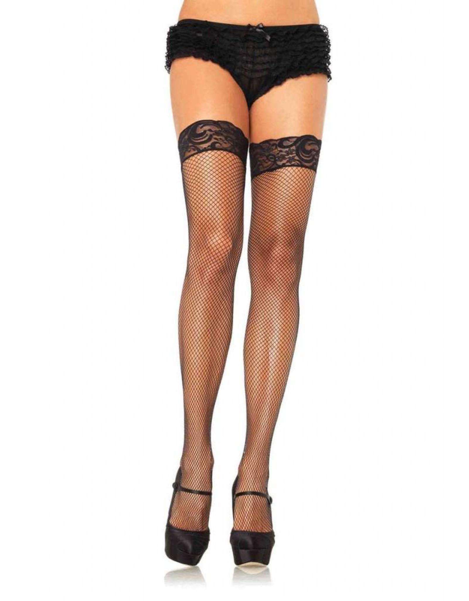 Leg Avenue Fishnet Thigh High Black
