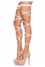 Leg Avenue Garter Leg Wrap White