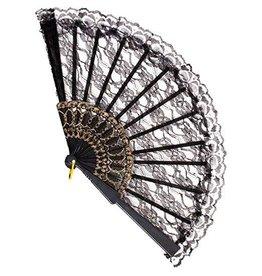 Forum Lace Fan Black
