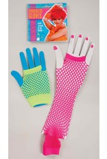 Forum 80's Neon Fishnet Gloves