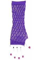 Forum Double Fisnet Gloves Purple