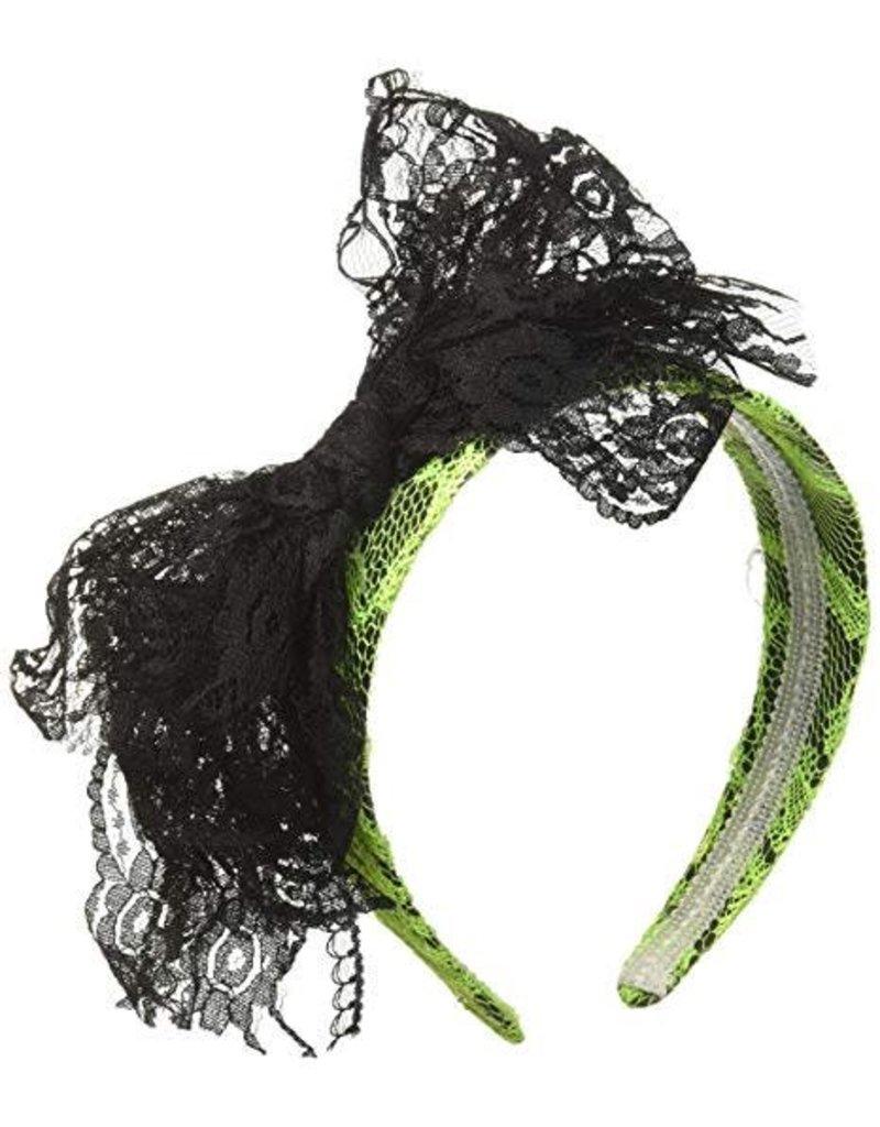 Forum 80's Lace Headband Green