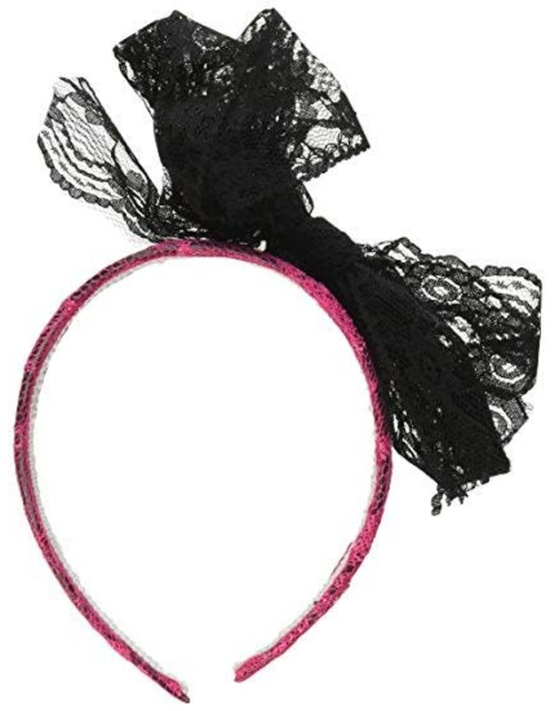 Forum 80's Lace Headband Pink
