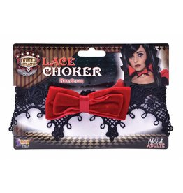 Forum Bow Lace Choker