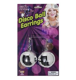 Forum Jumbo Disco Ball Earrings