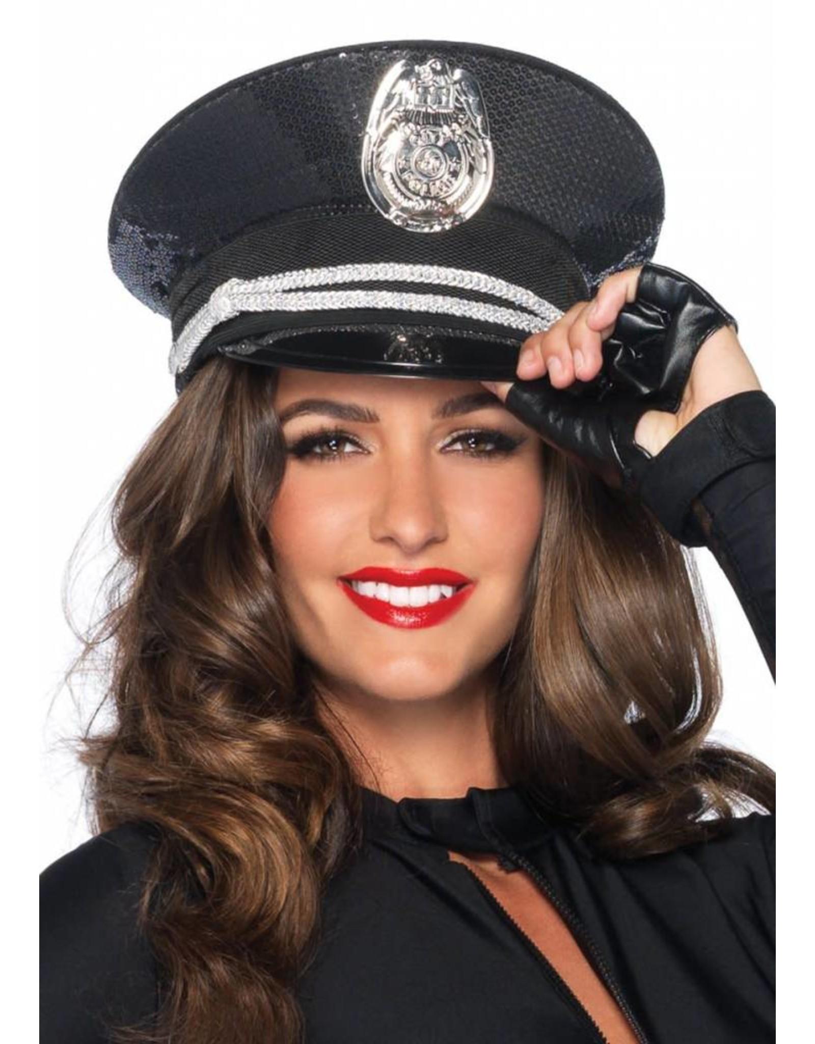 Leg Avenue Sequin Cop Hat