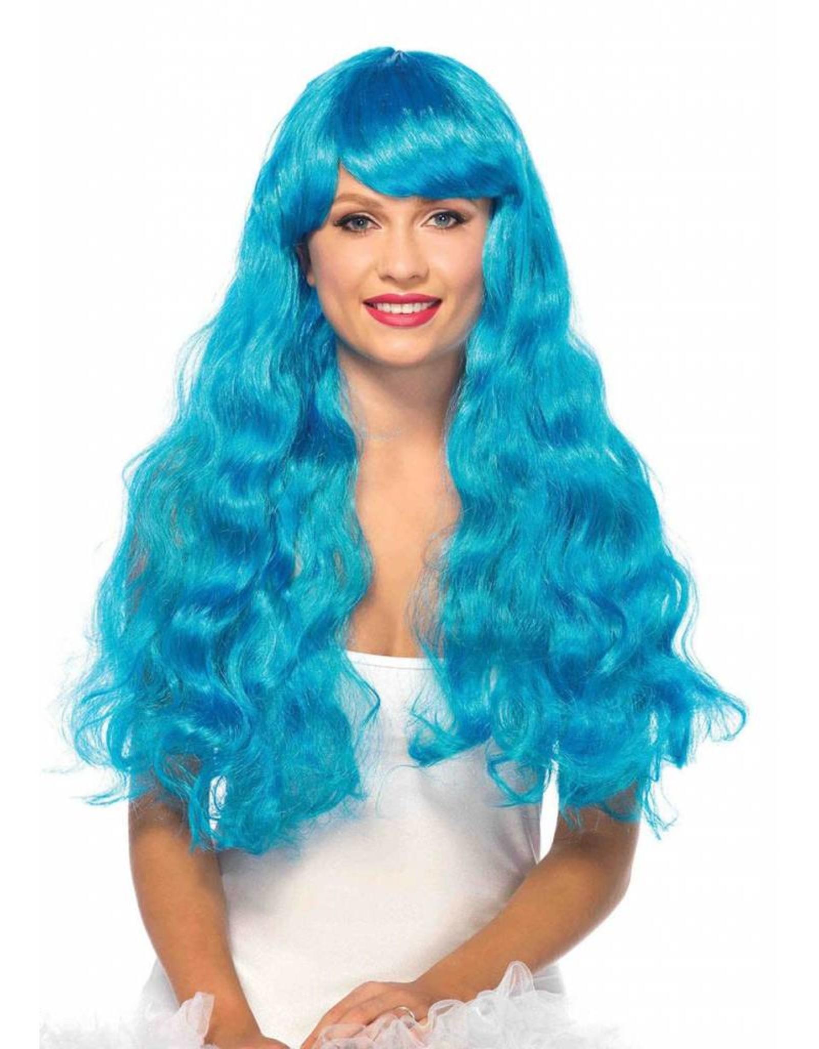 Leg Avenue Star Neon Wig Blue