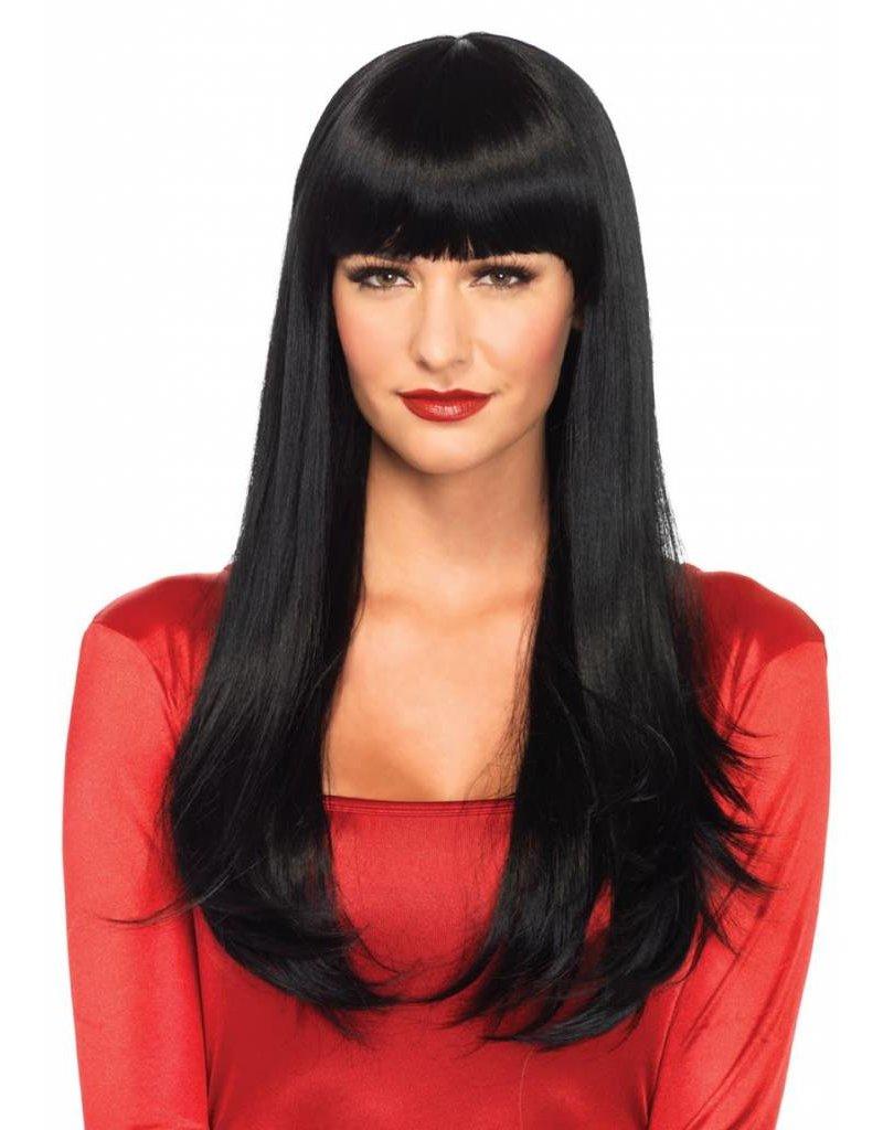 Leg Avenue Bangin Long Wig Black