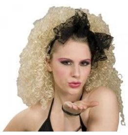 Forum 80's Lace Hair Bow Black