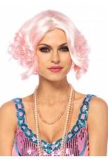 Leg Avenue Curly Bob Wig Pink