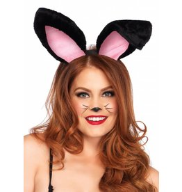 Leg Avenue Plush Bunny Ears Blk