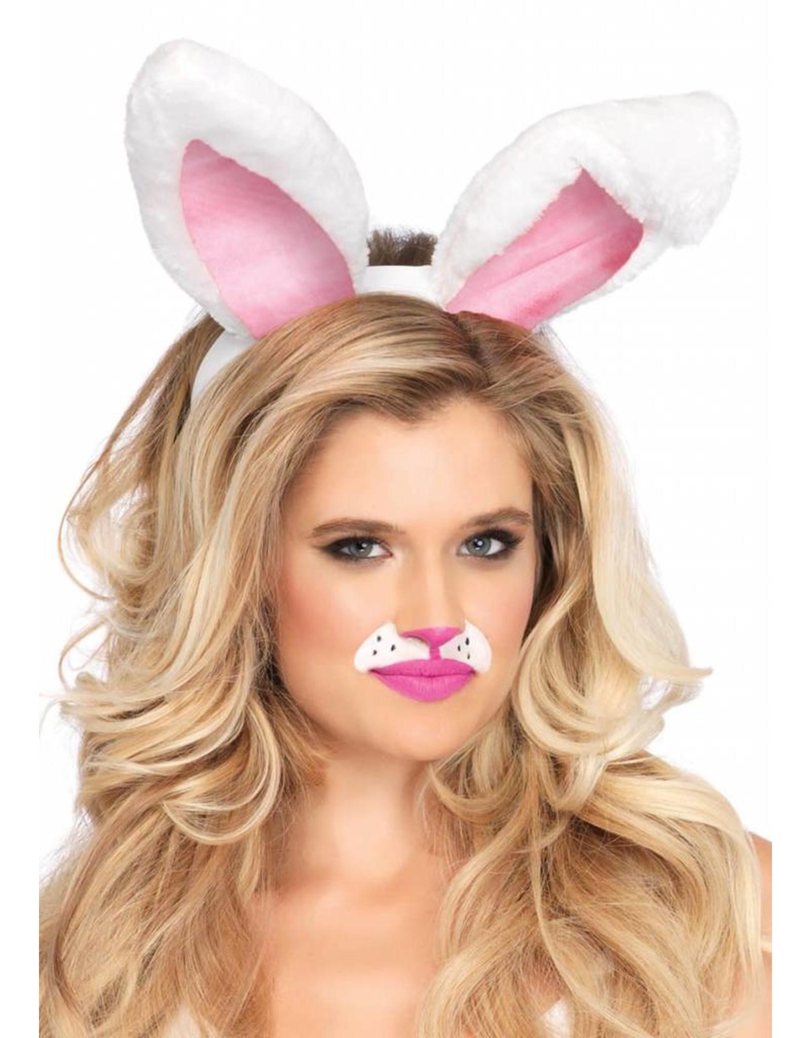 Leg Avenue Plush Bunny Ears Wht