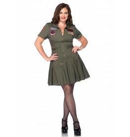 Leg Avenue Top Gun Flight Dress 1X/2X